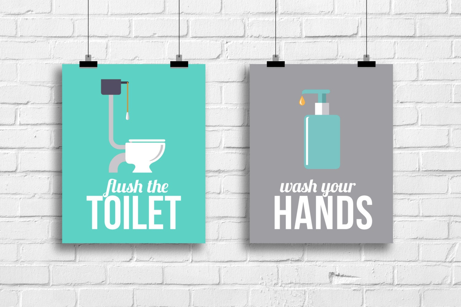 Funny bathroom posters