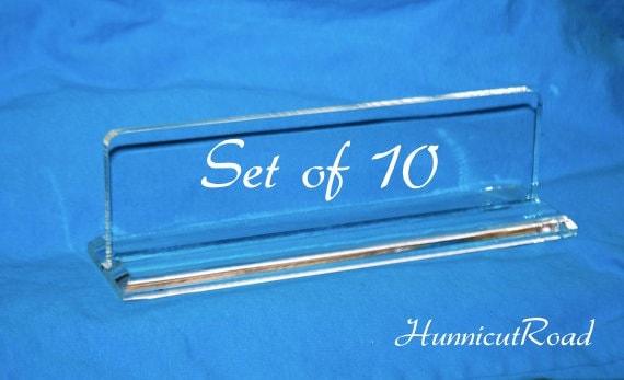 Items Similar To Diy Blank Acrylic Name Plate Set Of 10
