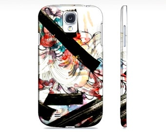 Samsung Galaxy s4 Case - Hardcover phone case - Cell phone case - Galaxy s4 - abstract art - phone accessory - s4 case