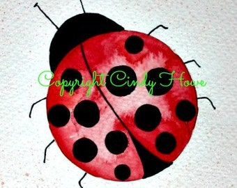 Digital art, digital download, ladybugs, ladybug, lady bug, bugs