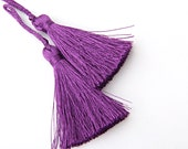 Hyacinth Violet, Small Silk Tassels, Mini Boho Tassels, Gypsy Tassels, 50mm, 2'',  Tassel Supplies  // TAS-031