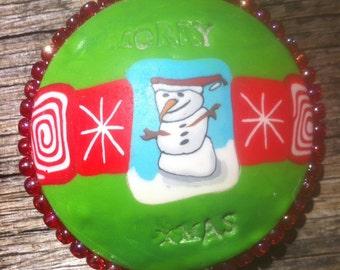 Polymer Clay Jewellery, Hollow Pod, Fimo Pendant, Christmas Decoration