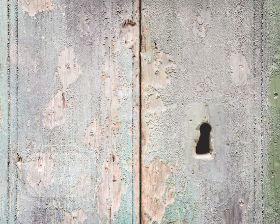 Vintage Wooden Door | Large Wall Art | Turquoise Mint Green Blue Photo    Title: Stengt  Location: Trogir, Croatia    Please feel free to contact me via