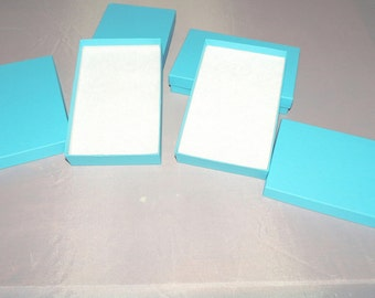 50 Robin Egg Blue Cotton Filled Jewelry Presentation Gift Boxes size 3.25x2.25x1, Chevron design Cute boxes, Colored ring boxes, Party box