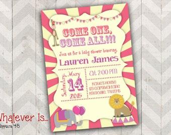 Circus Baby Shower Printable Invitation