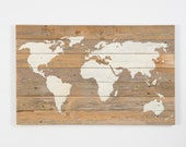 reclaimed wood world map (New Lower Price)