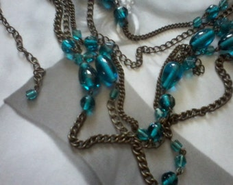 Turquoise Flapper Necklace