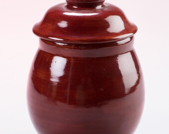 Firebrick Red Ginger Jar