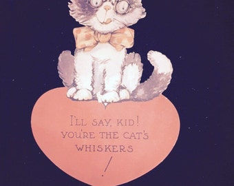 Cat Whiskers Valentines Card