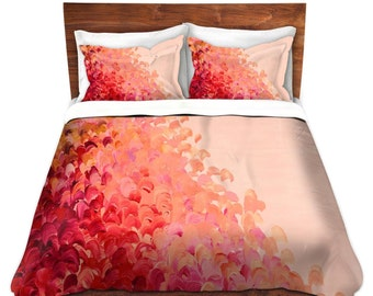 PINK OMBRE Fine Art Splash Waves Duvet Covers Queen Twin Creation Color Home Decor Bedding Children, Adult, Home Decor Colorful Bedroom