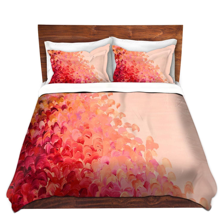 Pink Ombre Fine Art Splash Waves Duvet Covers Queen Twin