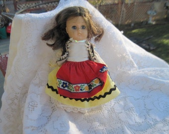 Darling Little Doll German  or Swiss  International 7 Inches tall  / Nice Gift idea :)S