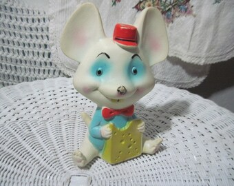Alan Jay Clarolyte Squeaky Toy Mouse 1980,  Rubber Baby Toy, Squeaky Baby Toy, Vintage Toys, Toys, Nursery Decor, Baby Toy Made in USA  :)s*