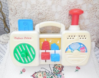 Fisher Price 1991 Radio,Vintage Toys,Toy Radios,Busy Box Type Toy,Radio Musical Toy,5 Noise Making Functions/Not included in Coupon Sale:)S