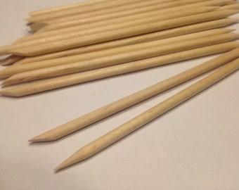 10 wooden Cuticle Pusher, Pedicure,Manicure (B11)