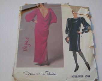 Vintage Vogue Pattern 1364 Oscar de la Renta Miss Dress