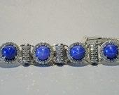 Magnificent Art Deco 8.00 Ct natural star sapphire and diamond bracelet