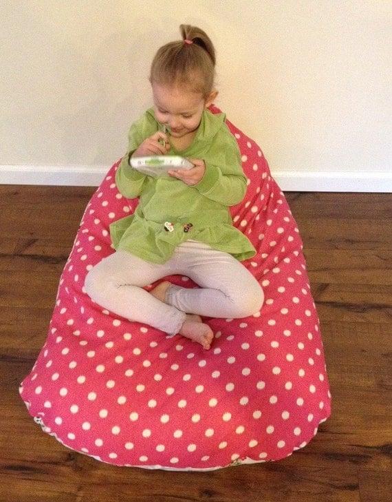 Bean Bag Chair Owl Amp Pink Polka Dot Pod Bean Bag By