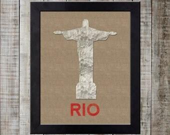 Rio de Janeiro, Brazil World Landmark Print - Christ the Redeemer