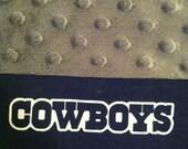 Dallas Cowboy Minky Pillowcase-  Standard/Queen Pillowcase with Minky Body