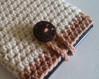 Kindle tablet cover case sleeve jacket - handmade crochet