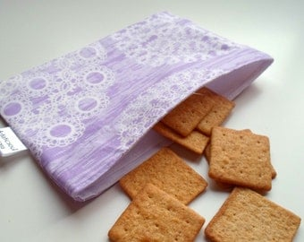 Reusable Snack & Sandwich Bag -- Lavender Knots Eco-Friendly