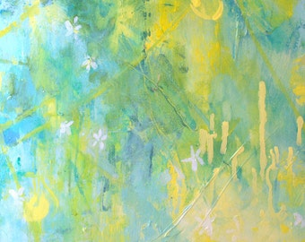 "Modern Art Print-- Archival Print of Original Painting-- ""Blossom in a Lemon Grove 4"""
