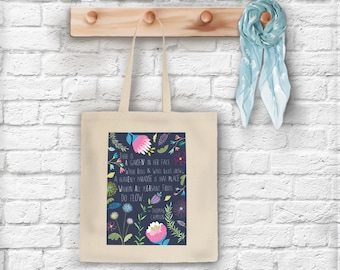 There is a Garden in her Face Tote Bag