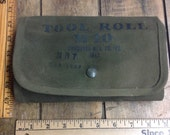 Vintage 1942 M10 Tool Roll from Browning 50 caliber machine gun, WWII. Great condition. INV-P825