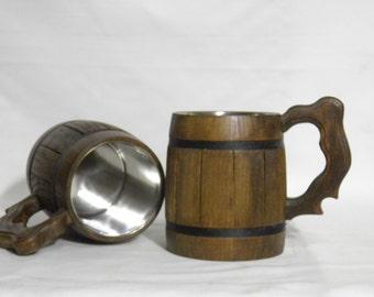 Personalized groomsman gift, Wooden Beer mug 0,65L (22oz) ,Personalized wedding gift,groomsmen gift,father gift,laser engraving,rustic,n09