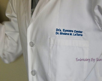 White Coat Embroidery