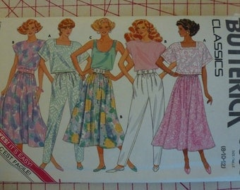 Vintage Butterick Classics Pattern 5598 Misses Top  Skirt  and  Pants  Sizes 8-10-12