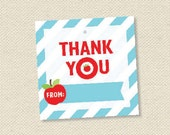teacher gift tags - printable teacher appreciation - thank you favor tags - On Target - INSTANT DOWNLOAD