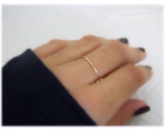 Thin Band Ring, Promise Ring, Wedding Rings, 14K Gold Band Ring, Gold Engagement Rings, Stacking Ring, Anniversary Ring, Stackable Gold Ring