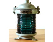 Ship Navigation Lamp from Soviet Union USSR e27 green Industrial loft lights mariner