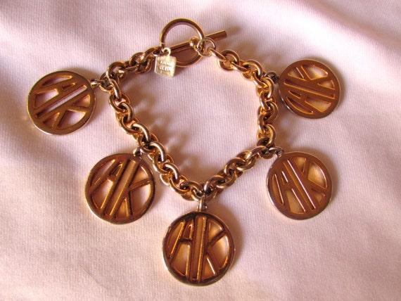 Vintage Bracelet Anne Klein link Logo Goldtone vintage