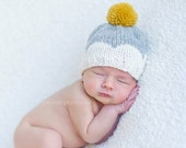 Newborn Knit Scallop Hat