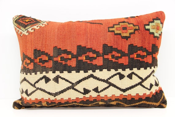 Decorative Kilim Pillow Cover 16 x 24 Wool by kilimwarehouse