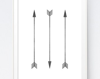 Decorative Arrows Digital Arrows, Painted Arrows, Wedding Arrows, Black and White Art, Black and White Prints, INSTANT DOWNLOAD