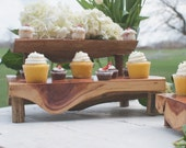 Two Tiered Cedar Plank Cupcake Stand
