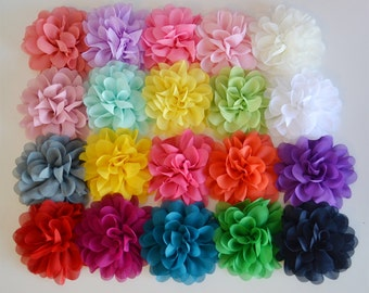"You choose quantity, 4"" Lotus petal flowers- Chiffon flower, fabric flower, baby headband supplies, diy flower, diy supply"