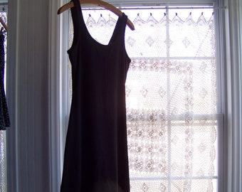SALE! Black Low Back Skater Swing Dress : S