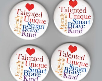 Inspirational Quotes Buttons Pin Back Promotional Buttons Set of 10