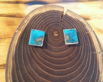 Turquoise Patina Copper Studs