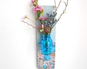 Blue Glass Wall Hanging Vase