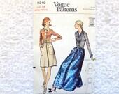 Vintage Vogue Dress Pattern 8340 Size 14 Miss Petite