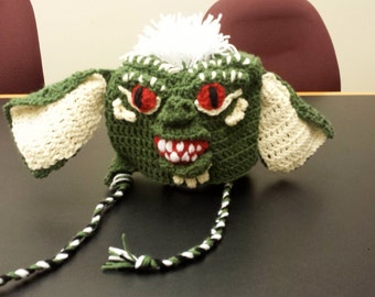 Gremlin hat; Spike Gremlin, crochet Inspired by the movie Gremlins made to order; Character hat