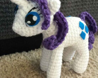Rarity My Little Pony Crochet Pattern