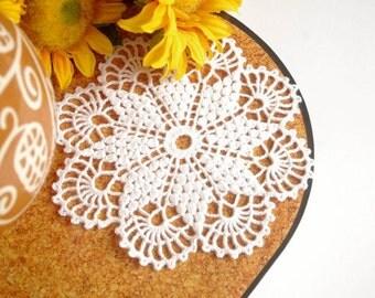 Crochet doily White crochet doily Small lace doilie Small crochet doilies Crochet coaster 251
