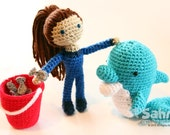 PATTERN Instant Download Molly the Dolphin Trainer Crochet Amigurumi doll